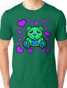 Love Teddy Bear Green and Purple  Unisex T-Shirt