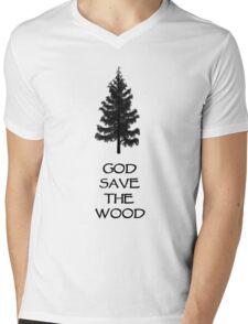God Sae the Wood Mens V-Neck T-Shirt