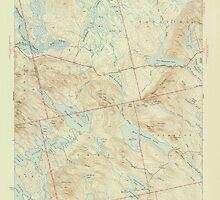 Maine USGS Historical Map Scraggly Lake 306760 1944 62500 by wetdryvac