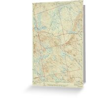 Maine USGS Historical Map Scraggly Lake 306760 1944 62500 Greeting Card