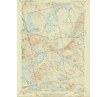 Maine USGS Historical Map Scraggly Lake 306760 1944 62500 Photographic Print