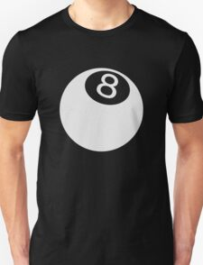 ball number 8 for black t-shirt T-Shirt
