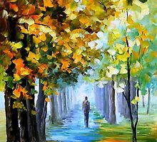 The Music Of The Fall — Buy Now Link - www.etsy.com/listing/223711269 by Leonid  Afremov
