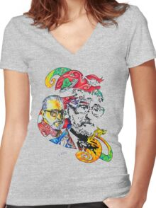 Theodor Seuss Geisel homage Women's Fitted V-Neck T-Shirt