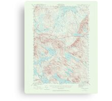 Maine USGS Historical Map Scraggly Lake 306761 1941 62500 Canvas Print