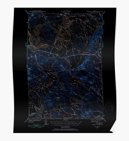 Maine USGS Historical Map Scraggly Lake 460841 1941 62500 Inversion Poster