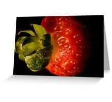 Strawberry macro Greeting Card