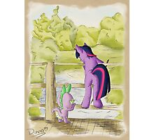 Twilight and Spike in Hundred Acre Wood Photographic Print
