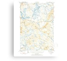 Maine USGS Historical Map Scraggly Lake 460841 1941 62500 Canvas Print