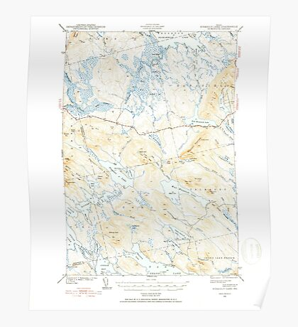 Maine USGS Historical Map Scraggly Lake 460841 1941 62500 Poster