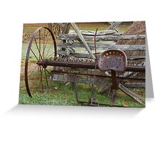 In Its Hay Days Greeting Card