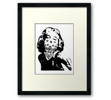 Gansta Marilyn Monroe Framed Print