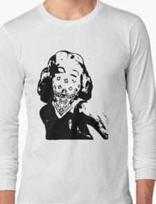 Gansta Marilyn Monroe Long Sleeve T-Shirt