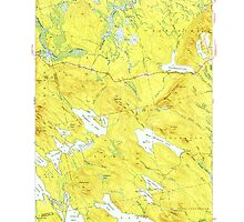 Maine USGS Historical Map Scraggly Lake 460842 1941 62500 by wetdryvac