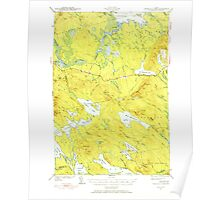 Maine USGS Historical Map Scraggly Lake 460842 1941 62500 Poster
