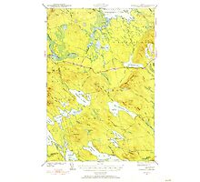 Maine USGS Historical Map Scraggly Lake 460842 1941 62500 Photographic Print