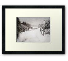 Silence of Snow  Framed Print