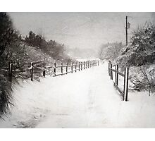 Silence of Snow  Photographic Print