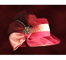 BEAUTIFUL CLASSY WOMANS HAT-CHAPEAU---PICTURE AND OR PRINTS ECT Photographic Print