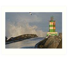 Storm At Ijmuiden Art Print