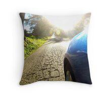 Subaru WRX country road Throw Pillow