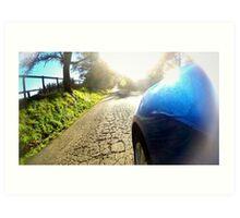 Subaru WRX country road Art Print