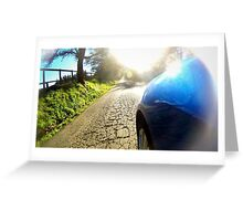 Subaru WRX country road Greeting Card