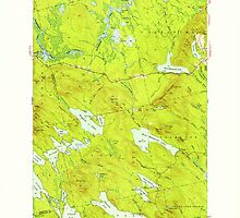 Maine USGS Historical Map Scraggly Lake 460843 1941 62500 by wetdryvac