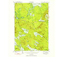 Maine USGS Historical Map Scraggly Lake 460843 1941 62500 Photographic Print
