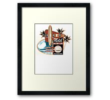 surf motel Framed Print