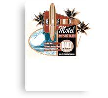 surf motel Canvas Print