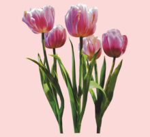Pink Pastel Tulips Kids Clothes