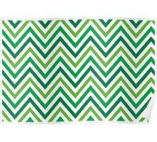 Green Chevron Poster