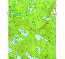 Maine USGS Historical Map Scraggly Lake 460844 1941 62500 by wetdryvac