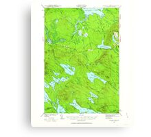 Maine USGS Historical Map Scraggly Lake 460844 1941 62500 Canvas Print