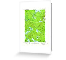 Maine USGS Historical Map Scraggly Lake 460844 1941 62500 Greeting Card