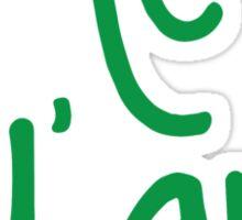 Hey Y'all Green Sticker