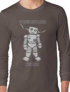 Robot Machines Black Long Sleeve T-Shirt