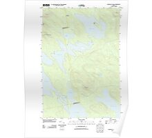 Maine USGS Historical Map Scraggly Lake 20110829 TM Poster