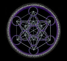 Metatron's Cube Mandala by Laural Virtues Wauters