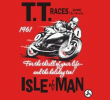 Isle Of Man TT 1961 Kids Tee