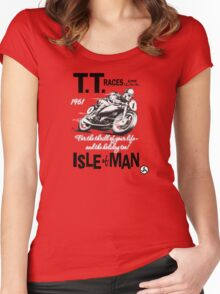 Isle Of Man TT 1961 Women's Fitted Scoop T-Shirt