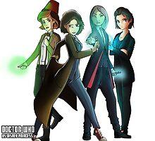 Doctor who group vs disney princess - 9th, 10th,11th,12th version by Kurostars