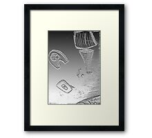 why reality? Framed Print