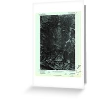 Maine USGS Historical Map Scraggly Lake NW 807131 1975 24000 Greeting Card