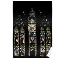 Window over Altar of St Paul's Anglican Cathedral, Melbourne, Australia Poster