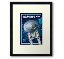 Star Trek - To Boldly Go II Framed Print
