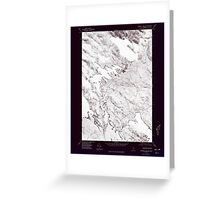 Maine USGS Historical Map Scraggly Lake SW 807133 1975 24000 Inversion Greeting Card