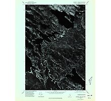 Maine USGS Historical Map Scraggly Lake SW 807133 1975 24000 Photographic Print