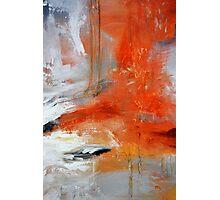 Red Orange Abstract Print  Photographic Print